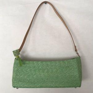 Handbags - Light Green Braided Satchel